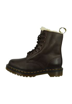 Dr. Martens SERENA Dark Brown Burnished Wyoming Dunkelbraun Braun 8-Loch Warmfutter 21797201 – Bild 5