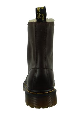 Dr. Martens SERENA Dark Brown Burnished Wyoming Dunkelbraun Braun 8-Loch Warmfutter 21797201 – Bild 6