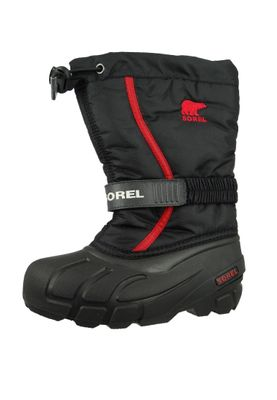 Sorel Kinder Winterstiefel FLURRY Youth NY1885-015 Black Bright Red Schwarz – Bild 1