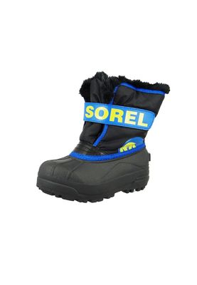 Sorel Kinder Winterstiefel SNOW COMMANDER Gefüttert NC1877-011 Black Super Blue Schwarz Blau – Bild 1