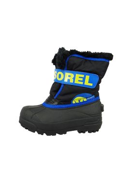Sorel Kinder Winterstiefel SNOW COMMANDER Gefüttert NC1877-011 Black Super Blue Schwarz Blau – Bild 2