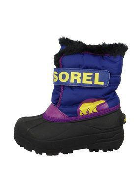 Sorel Kinder Winterstiefel SNOW COMMANDER Gefüttert NC1877-484 Grape Juice Bright Plum Lila – Bild 3