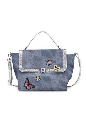 Tamaris Tasche VERA Handbag Handtasche Denim Comb. Blau 39 x 15 x 25 cm