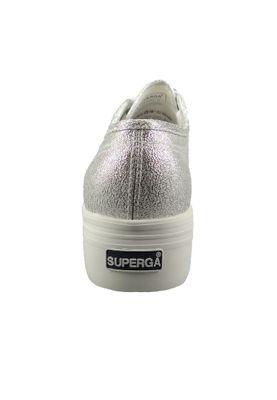 Superga Sneaker 2790 COTU LAMEW Platform S009TC0 gray silver silver – Bild 3