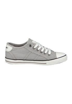 LA Gear Sneaker Fizz Twill Washed PU Sneaker Grau L39-3701-04 LT Grey – Bild 4