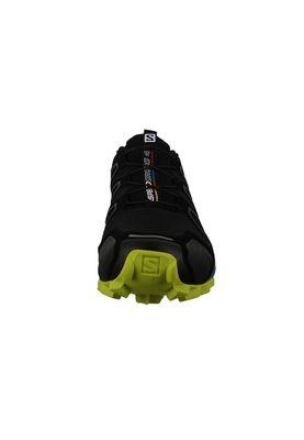 Salomon Schuhe Speedcross 4 Laufschuhe 392398 Schwarz Black Sulphur Spring – Bild 3