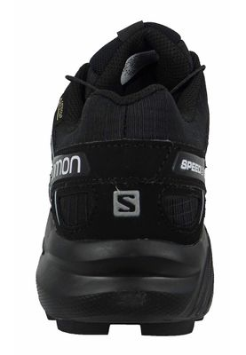 Salomon Shoes Speedcross 4 Gore-Tex 383187 Running Shoes Black Black Metallic Bubble Blue – Bild 3