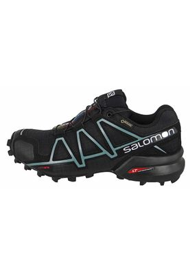 Salomon Schuhe Speedcross 4 Gore-Tex 383187 Laufschuhe Black Black Metallic Bubble Blue – Bild 5