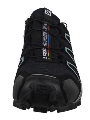 Salomon Schuhe Speedcross 4 Gore-Tex 383187 Laufschuhe Black Black Metallic Bubble Blue – Bild 2