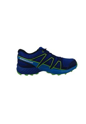 Salomon Kinderschuhe Speedcross 329409 Surf the Web Cloisonne Green Flash Blau – Bild 4