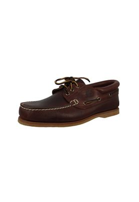 Timberland 76015 Mens Brown Smooth Brown Classic Boat 3 Eye Padded Collar Boat Shoes – Bild 1