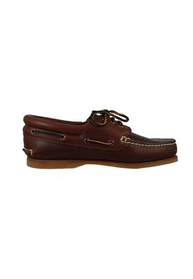 Timberland 76015 Mens Brown Smooth Brown Classic Boat 3 Eye Padded Collar Boat Shoes – Bild 3