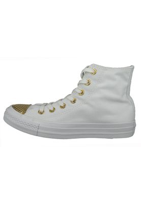 Converse Chucks 555813C CT All Star Metallic Toecap White Gold White Weiss – Bild 3