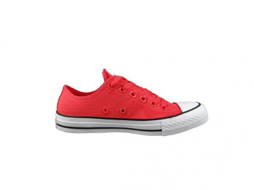 Converse Chucks 155445C Chuck Taylor All Star Perf Ripstop OX Ultra Red White Black Rot – Bild 4
