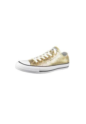 Converse Chucks 555967C CT All Star Metallic Snake Leather Leder Gold Black White – Bild 1
