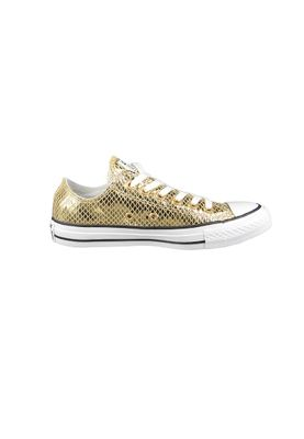 Converse Chucks 555967C CT All Star Metallic Snake Leather Leder Gold Black White – Bild 3