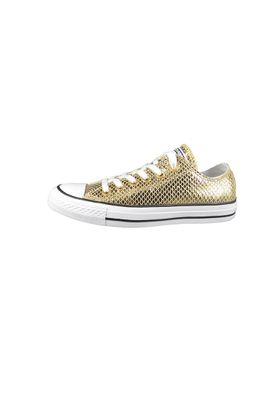 Converse Chucks 555967C CT All Star Metallic Snake Leather Leder Gold Black White – Bild 4