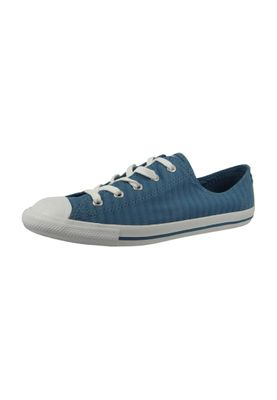 Converse Chucks 555889C Blau Chuck Taylor All Star Dainty Perforated Stripe Canvas OX Blue Coast White White – Bild 1