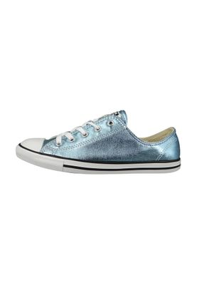 Converse Chucks 555906C Blau Chuck Taylor All Star Dainty OX Blue Coast Black White – Bild 4
