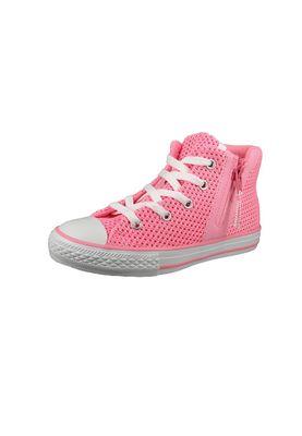 Converse Chucks Kinder 656060C Chuck Taylor All Star Sport Zip Crochet HI Pink Glow Neo Pink White – Bild 1