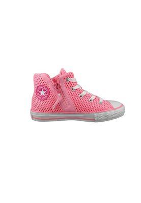 Converse Chucks Kinder 656060C Chuck Taylor All Star Sport Zip Crochet HI Pink Glow Neo Pink White – Bild 5