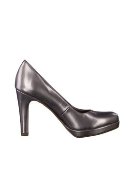 Tamaris Plateau Pumps High-Heel Silber Grau Lack mit TOUCH-IT Sohle 1-22426-28 915 Pewter – Bild 2