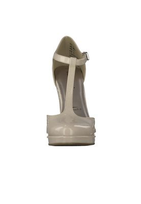 Tamaris Plateau Pumps Riemchenpumps Beige High-Heel mit TOUCH-IT Sohle 1-24409-28 452 Cream Patent – Bild 4