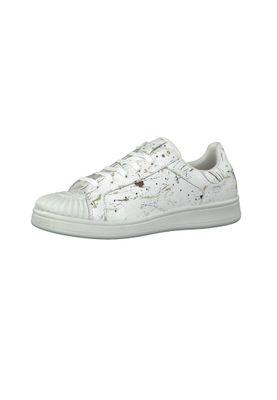 Tamaris Leder Sneaker Weiß mit YOGA-IT Sohle 1-23637-28 197 White Comb – Bild 1