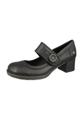 Art Schuhe Leder Pumps Platform Heels Memphis Bristol Schwarz Black 0089 – Bild 1