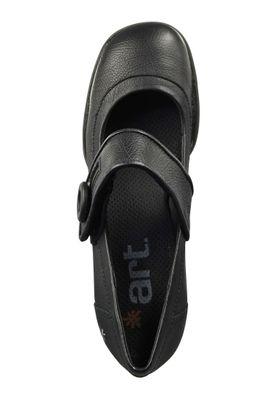 Art Schuhe Leder Pumps Platform Heels Memphis Bristol Schwarz Black 0089 – Bild 8