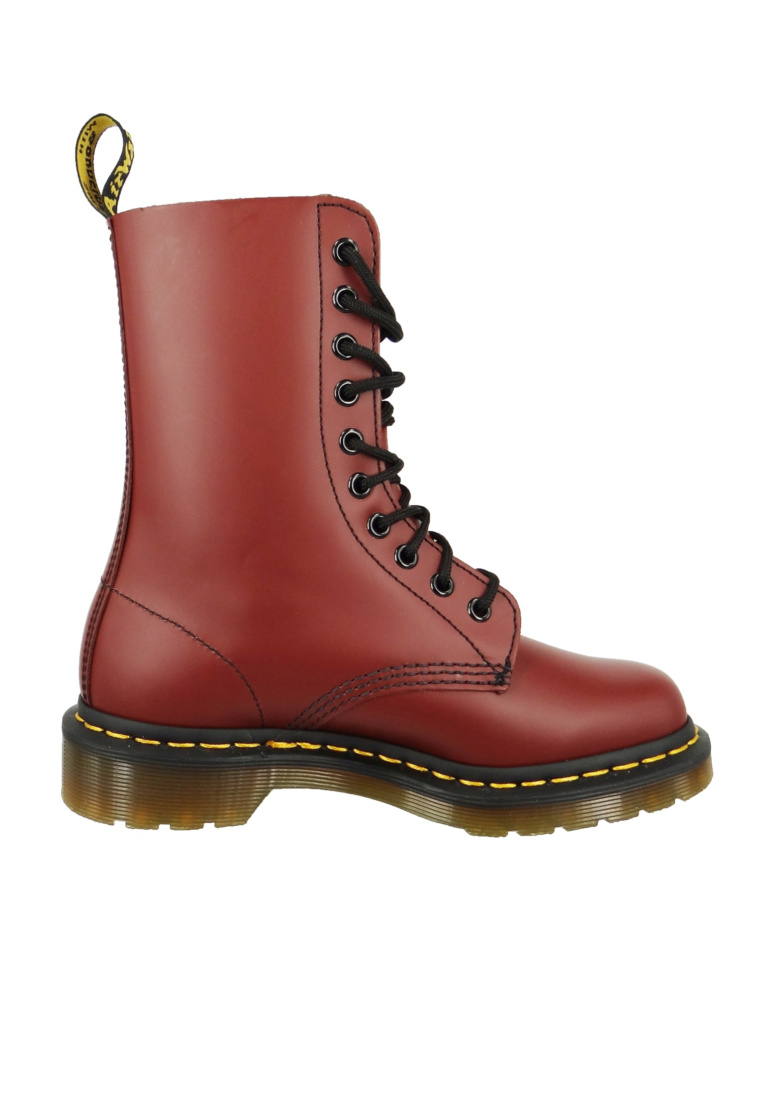 dr martens 1490 cherry red smooth rot weinrot 10 loch. Black Bedroom Furniture Sets. Home Design Ideas