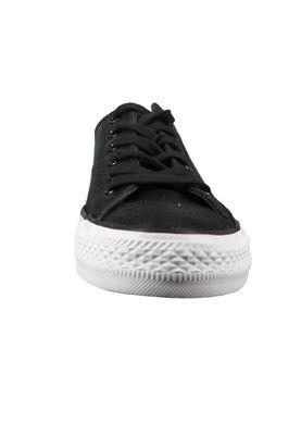 Converse Chucks Schwarz 157565C Chuck Taylor All Star OX Black Black Leder – Bild 3