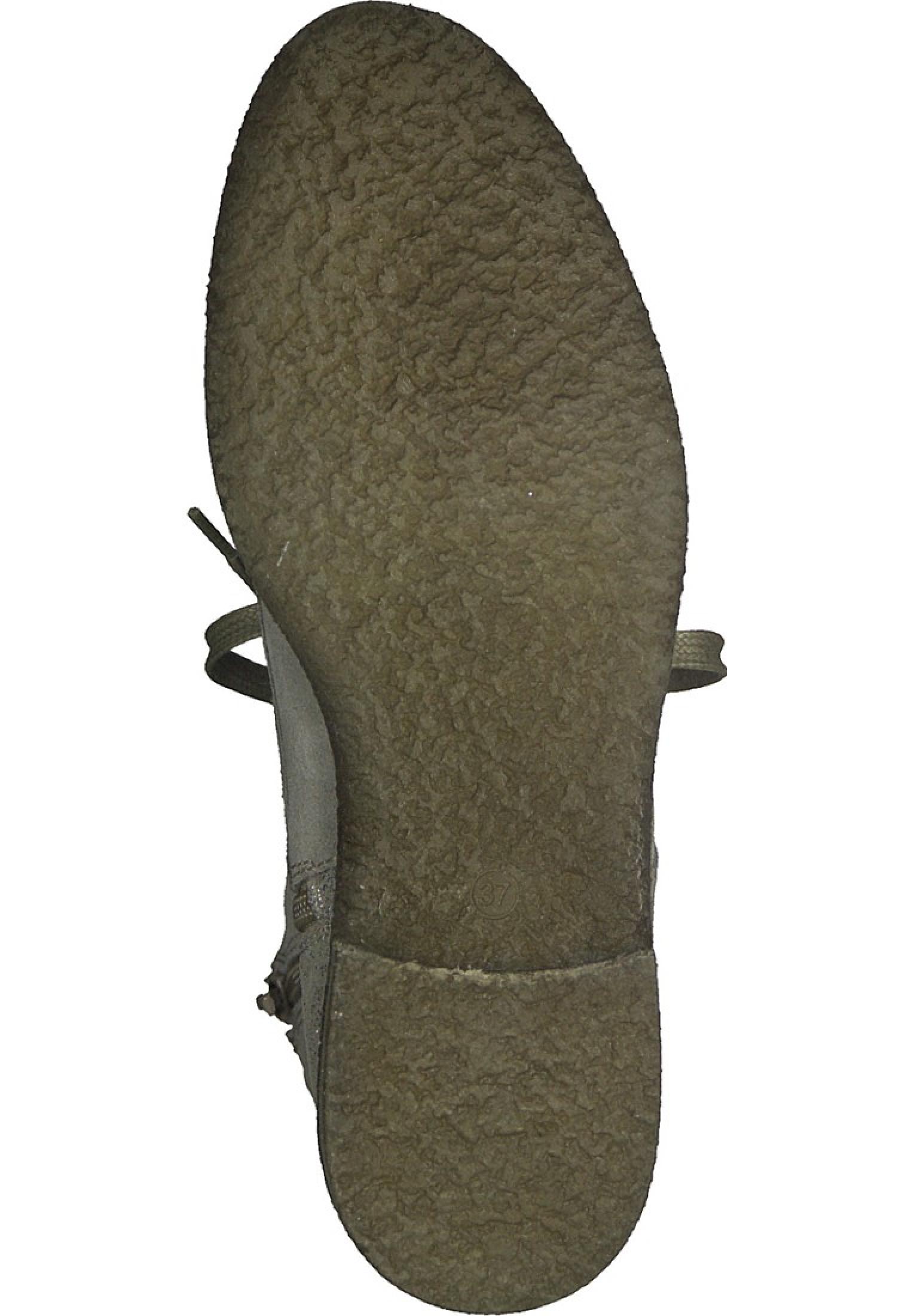 Tamaris Leder Schnürstiefelette Boots Grau 1 25287 29 331 Taupe Silver