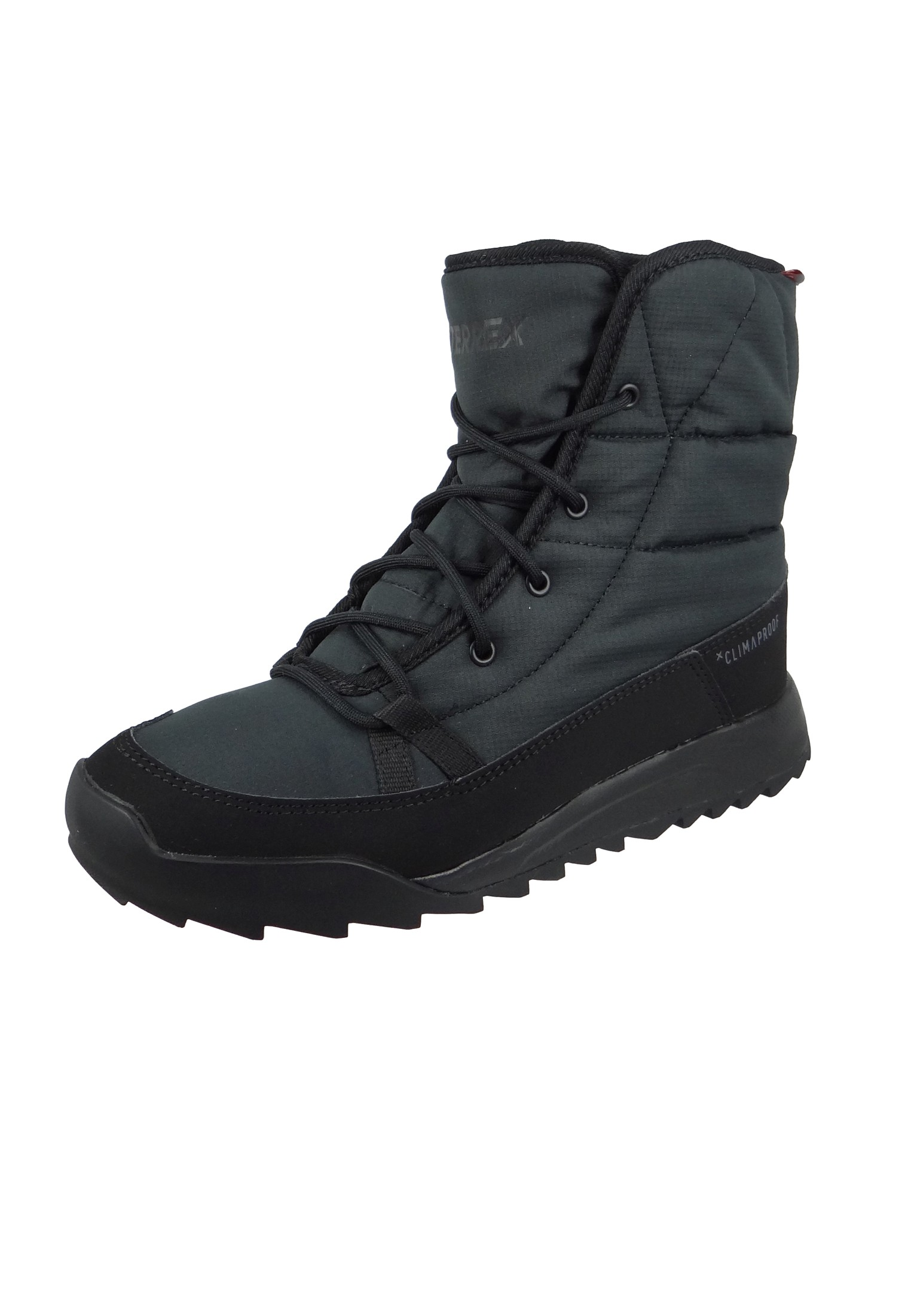 brand new c68b1 16e82 adidas TERREX CHOLEAH PADDED CP CW W S80748 Damen Winterstiefel Boots core  blackcore blackgrey five Schwarz