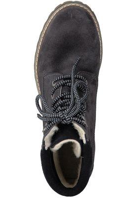 Tamaris Leder Schnürstiefelette Boots mit Sympatex Membran und Warmlining Dunkelgrau 1-26278-29 220 Anthracite Black – Bild 5