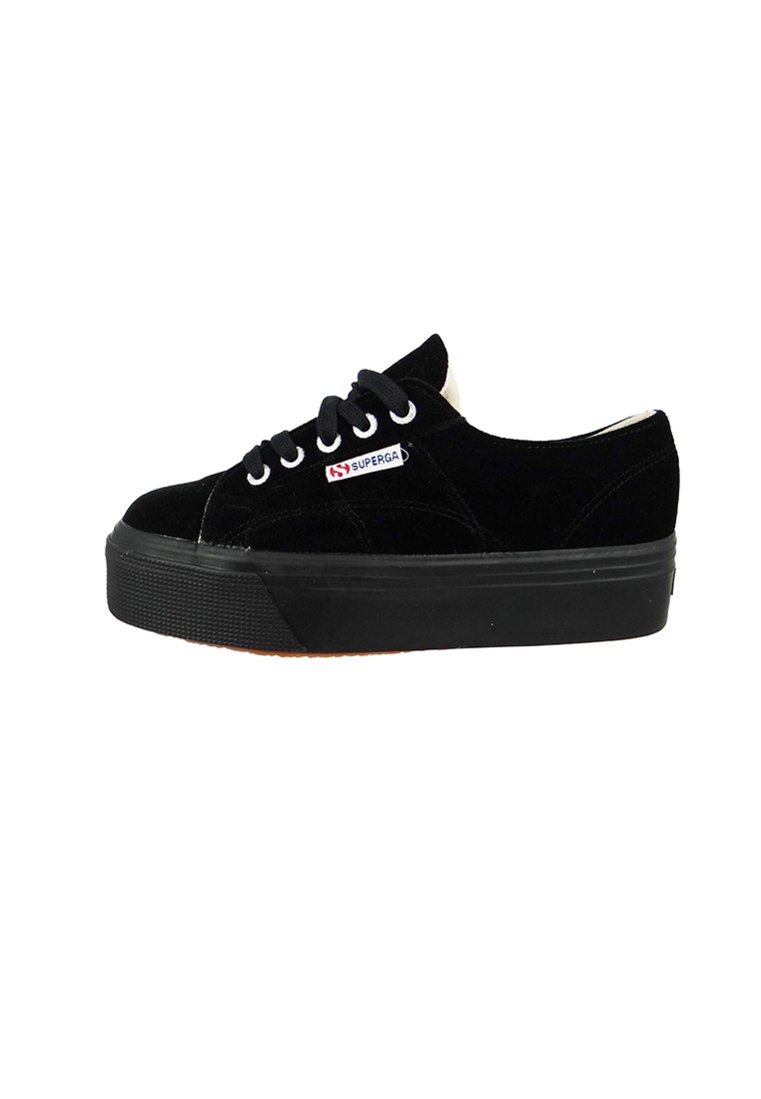 superga schuhe sneaker 2790 cotu plateau velvet black schwarz damenschuhe sneaker. Black Bedroom Furniture Sets. Home Design Ideas