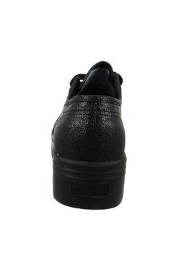 Superga Schuhe Sneaker 2790 COTU LAMEW Plateau S009TC0-912 Schwarz Black – Bild 5