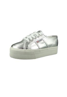 Superga Schuhe Sneaker 2790 COTMETW Plateau S006JC0-031 Silver Silber – Bild 1