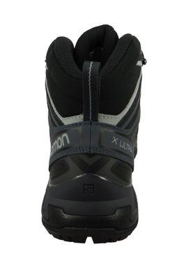 Salomon Schuhe X Ultra 3 Mid GTX Laufschuhe Trail Hiking 398674 Schwarz Black India Ink Monument – Bild 6