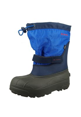 Columbia Kinder Winterstiefel Youth Powderbug Plus II Gefüttert Stiefel BY1326-464 Blau Collegiate Navy – Bild 1