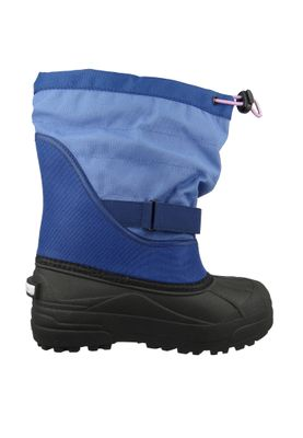 Columbia Kinder Winterstiefel Youth Powderbug Plus II Gefüttert Stiefel BY1326-593 Blau Eve Northern Lights – Bild 4