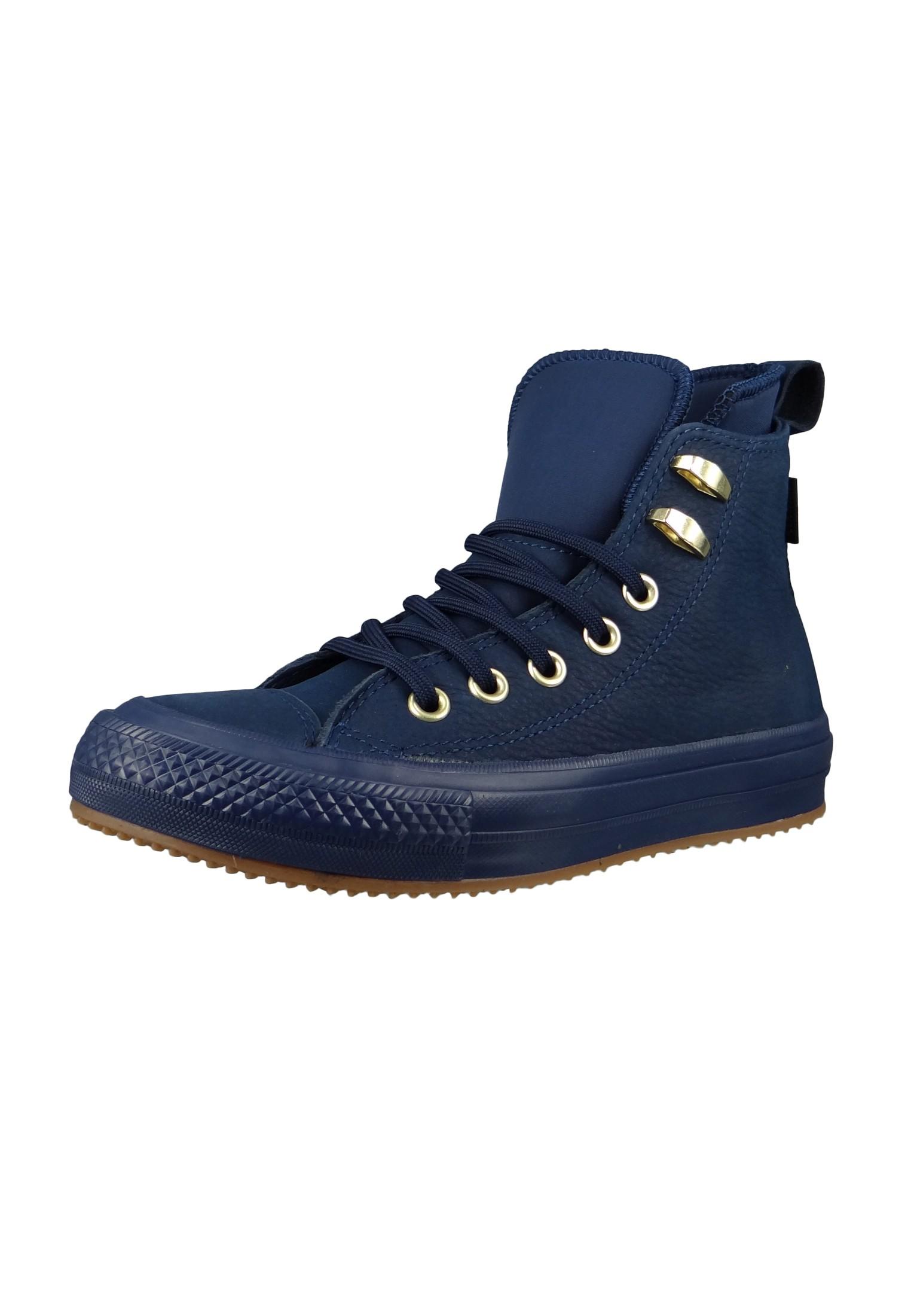 converse chucks blau leder 558820c chuck taylor all star wp boot hi midnight navy midnight navy. Black Bedroom Furniture Sets. Home Design Ideas