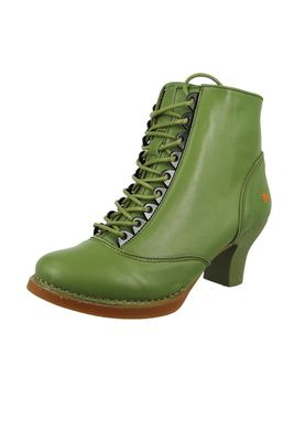 Art Leather Lace-up Ankle Boots Harlem Kaki Green 0927
