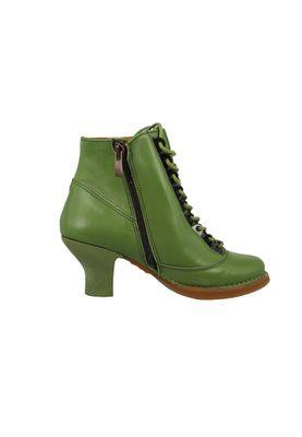 Art Leather Lace-up Ankle Boots Harlem Kaki Green 0927 – Bild 4