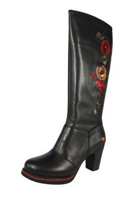 Art Damen Leder Stiefel Gran Via Black Schwarz 1143 – Bild 1