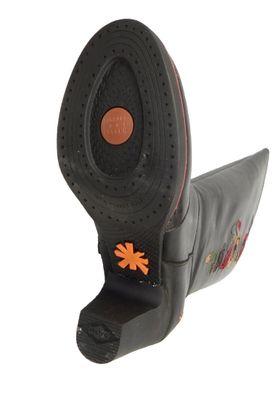 Art Damen Leder Stiefel Gran Via Black Schwarz 1143 – Bild 6
