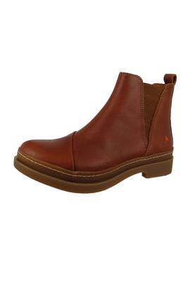 Art Leder Stiefelette Ankle Chelsea Boot Bonn 1039 Cuero Braun – Bild 1