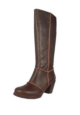 Art Damen Leder Stiefel Genova Brown Braun 0479 – Bild 1
