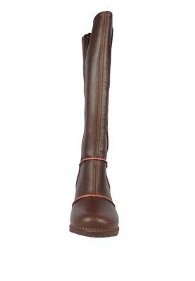 Art Damen Leder Stiefel Genova Brown Braun 0479 – Bild 4