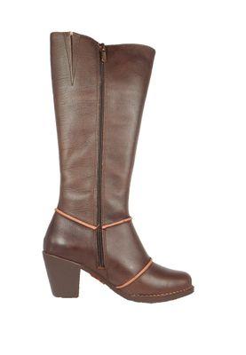 Art Damen Leder Stiefel Genova Brown Braun 0479 – Bild 5